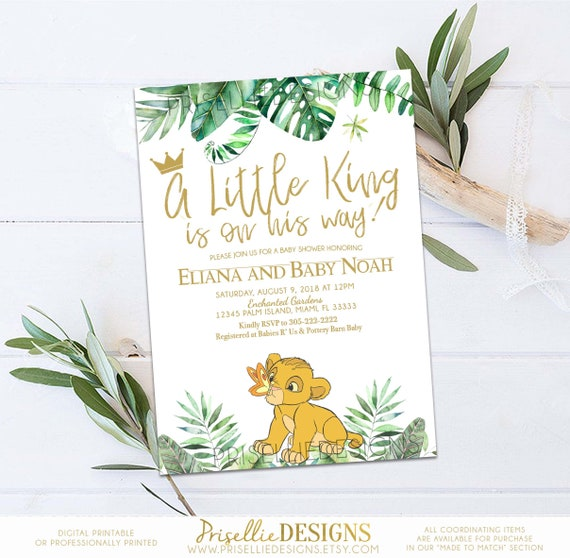 Simba baby shower invitation lion king baby shower like this item filmwisefo Choice Image