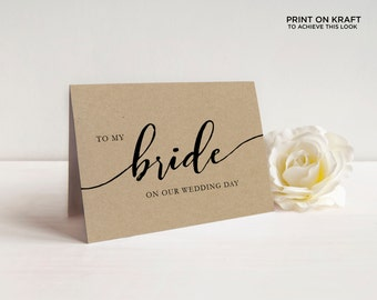 Printable On My Wedding Day Cards | To My Mother, Father, Sister, Bride, Groom, Parents, etc | EDN 5481