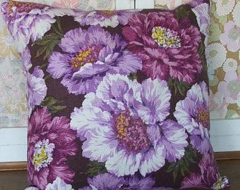 Pretty Purple Floral Cushion Cover