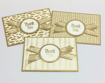 Thank You Cards with Envelopes - Set of 3
