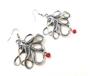 Octopus Earrings For Her Women Jewellery