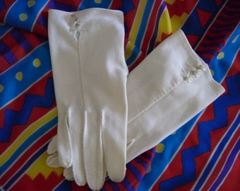 "1950's White Gloves Evening and Formal Gloves Women""s Accessory"