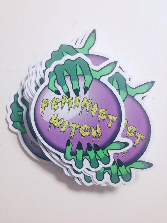 Witch zombie feminism sticker