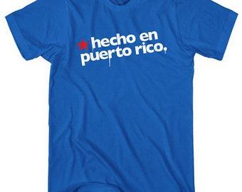 Hecho En Puerto Rico T-shirt - Men XS S M L XL 2x 3x 4x - Puerto Rico Tee, Boricua, San Juan, Bayamon - 4 Colors