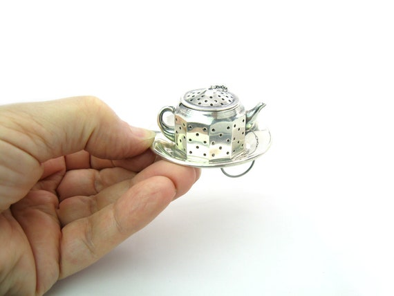 Vintage Sterling Silver Teapot Tea Infuser by AMCRAFT