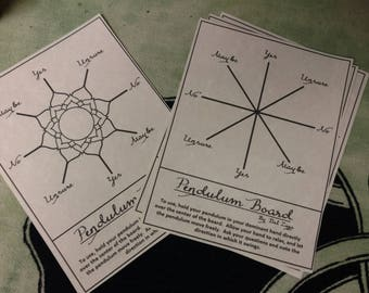 PARCHMENT PENDULUM BOARD ~ Divination, Pendulum Guide, Scrying Tool, Book of Shadows Page, Parchment Page, Pagan, Wiccan, Witch Gift