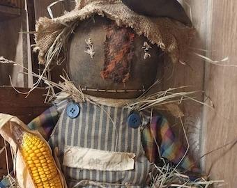 Primitive Scarecrow Fall Halloween Scarecrow doll Cloth doll Door hanger Faap Hafair