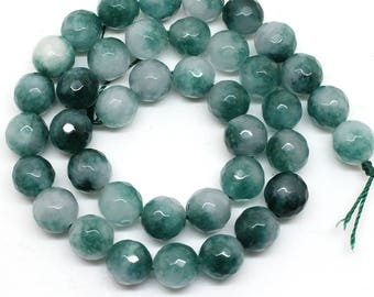 Faceted Green Chalcedony Stone