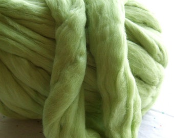 Chartreuse Merino Top - 3 Ounces