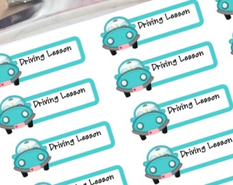 Driving lesson planner stickers