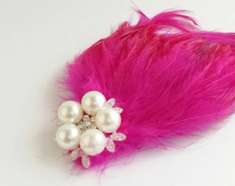 Feather Fascinator/Bridal Accessory/Pinup Hair Accessory