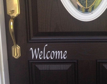 Vinyl Welcome Front Door Decal