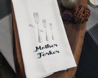 Mother forker,  Super punny kitchen towels,  Hostess gift