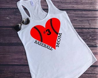 Baseball mom shirt. Baseball mom tank. Baseball tank. Baseball shirt. Baseball season. Baseball tank top.