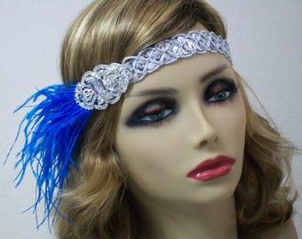 1920s headpiece, Great Gatsby headpiece, 1920s headband, Flapper headband, Roaring 20s, 1920s hair accessory, Vintage inspired