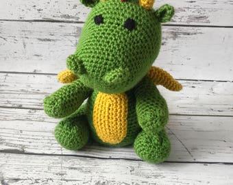 Toy Dragon, Crochet Dragon, Stuffed Animal, Dragon Amigurumi, Plush Animal, MADE TO ORDER