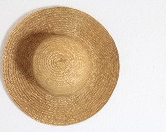 vintage straw hat 60s 70s neach boho festival summer hippie