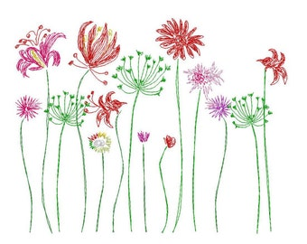 Sotis Summer Meadow: a stickfile for the frame size 13x18 (5x7 inch)