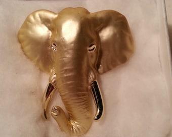 A.J.C Elephant Head Brooch