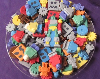Robots & gears chocolates candy tray