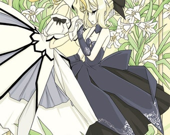 Fate Stay Night Saber Lily and Alter 10 x 20 Print