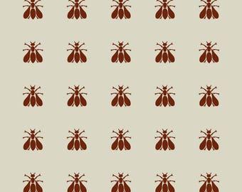 Bee. Napoleonic bee. Adhesive vinyl stencil. (ref 136)