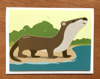 Otto the Otter card