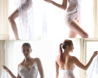 See Through Dress - long dresses for women - see through lingerie teddy - sheer lingerie- lace lingerie- womens clothing- Recherche Clothing