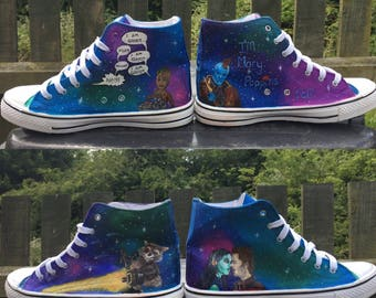 Custom Painted *non genuine* Converse Hi-tops