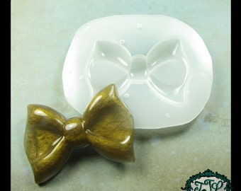 resin MOLD Kawaii Large BOW also for polymer clay, pmc, plaster, soaps, and candles