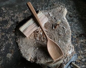 """11"""" serving spoon, cooking spoon, hand carved wooden spoon"""