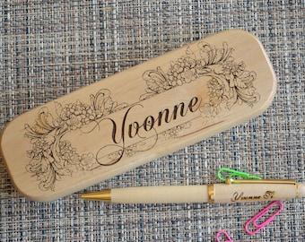 Personalized Engraved Pen Set, Wooden pen Set, Graduation Gift,  Custom Pen Set, Birthday Gift, Maple Pen, Fathers day gift. PB2