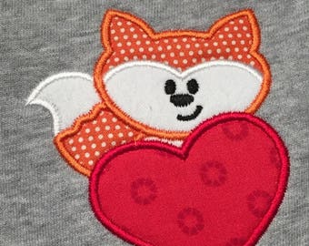 Foxy Valentine applique shirt