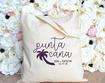 Punta Cana Wedding Welcome Tote - Destiantion Wedding Welcome Tote - Dominican Republic Wedding Tote