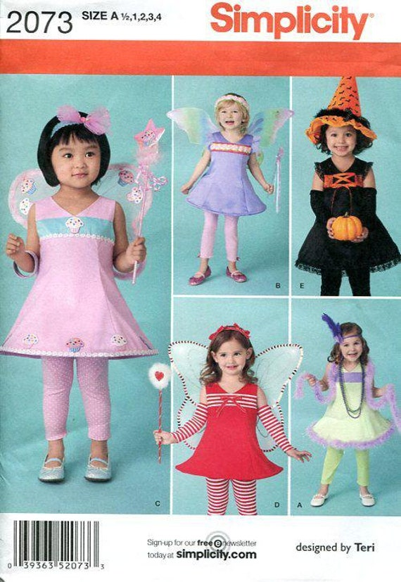 Free Us Ship Sewing Pattern Toddler Baby Simplicity 2073 Pretend ...