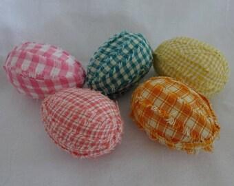 Rag Eggs, Homespun Rag Eggs, Easter Basket Filler, Spring Rag Eggs, Primitive Rag Eggs, Country Decor, Set of Rag Eggs, Bowl Filler