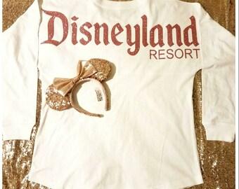 White Glitter Disneyland Jersey   Disney Spirit Shirt   Disneyland Inspired Jersey   Minnie Mouse   Disneyland Pom Pom Jersey