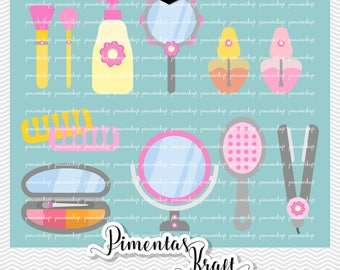 Digital Clipart   Spa Day Beauty Acessories,spa Day Clipart,amelie Clipart, Beauty