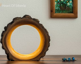Wood Lamp / Bedside Lamp / Wooden Table Lamp / Night Light / Gift From Siberia