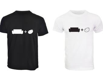 Mens Black or White Couch Potato Funny Joke Pun Lazy T-Shirt Tee Top S M L XL 2XL 3XL