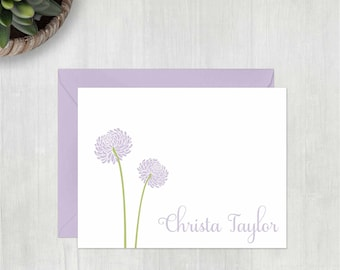 Personalized Thank You Cards • Two Flowers {FOLDED} • 10 Note Cards with Envelopes • Personalised Stationery • Personalized Stationary