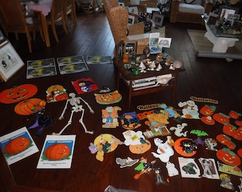 Halloween lot of decorations Cut outs and more 60+ pieces