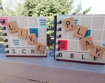 Repurposed Scrabble Journal