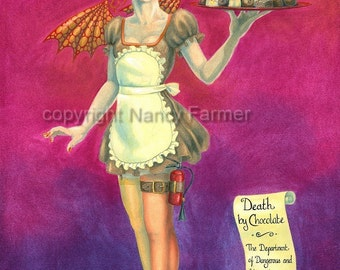 Death By Chocolate --- The Department of Dangerous and Unusual Canapes --- Art print in 3 different sizes