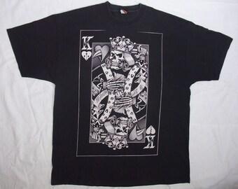 Ogabel t-shirt 2XL King of Hearts men's black