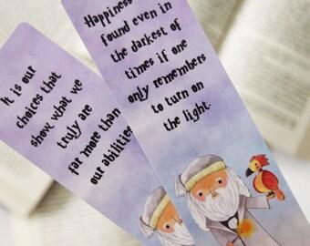 Dumbledore paper bookmark