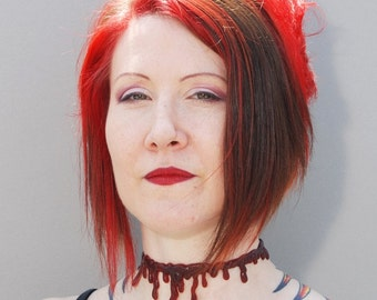 Blood choker necklace Extra Drippy-Dark