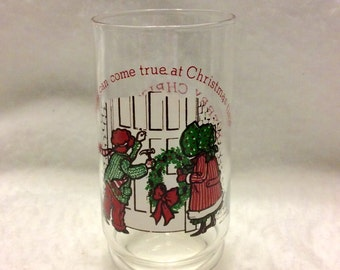Vintage 1978 Holly Hobbie Coke Christmas glass.