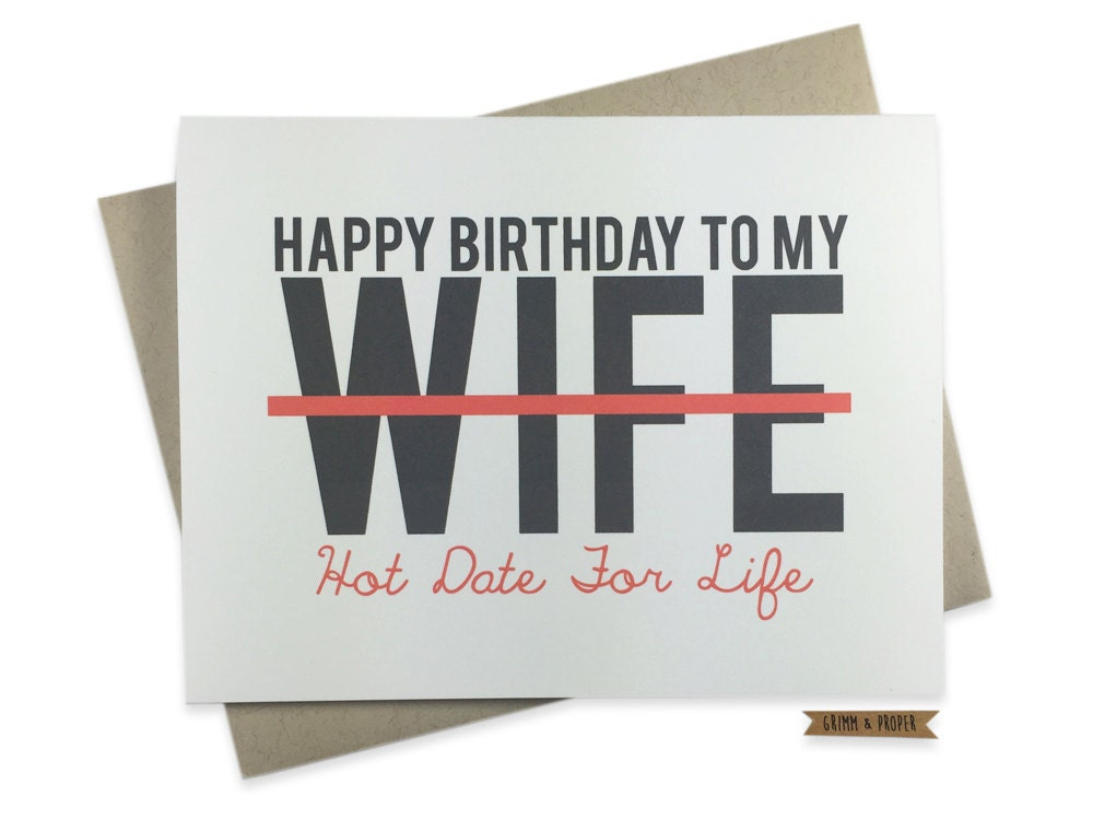 Wife Birthday Card Funny Love For Her Sexy Wife Date-9709
