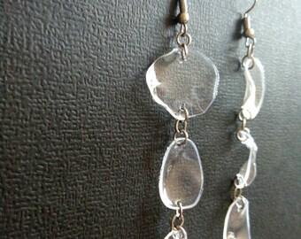 3 petals - Upcycled Nickel Free Earrings